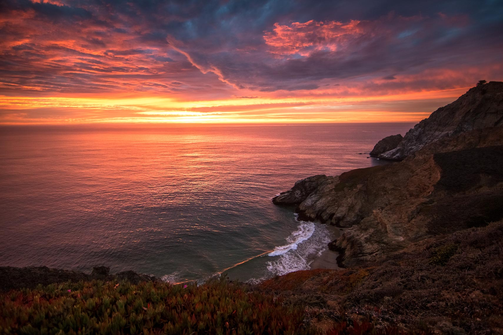 California sunset image by commercial photographer