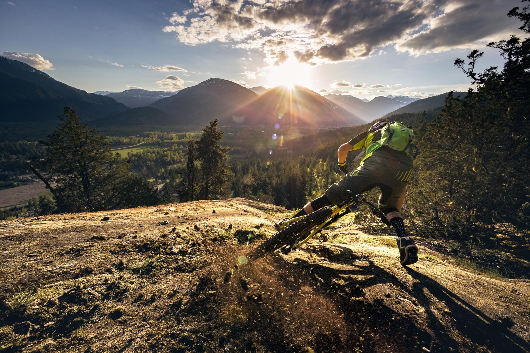 Mountain bike action photography shot in Whistler for Camelbak
