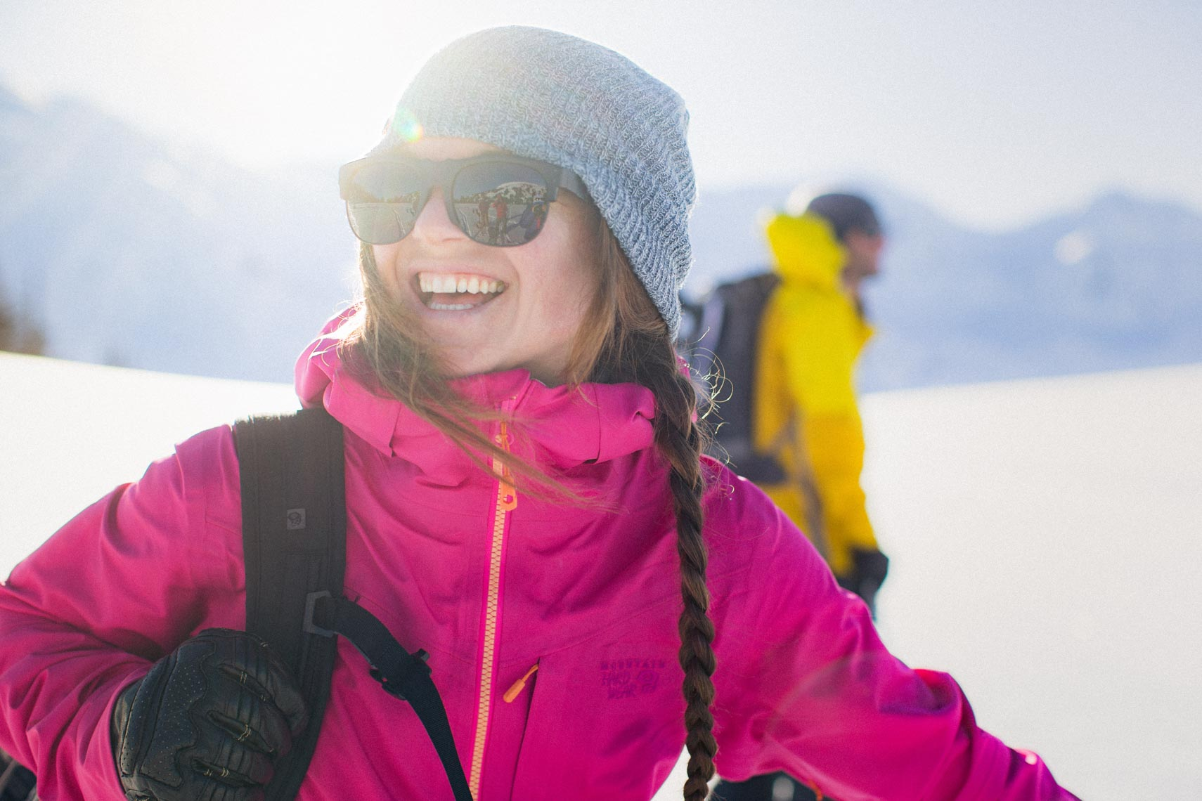 Mountain hardware winter ski jacket photographed in Canada