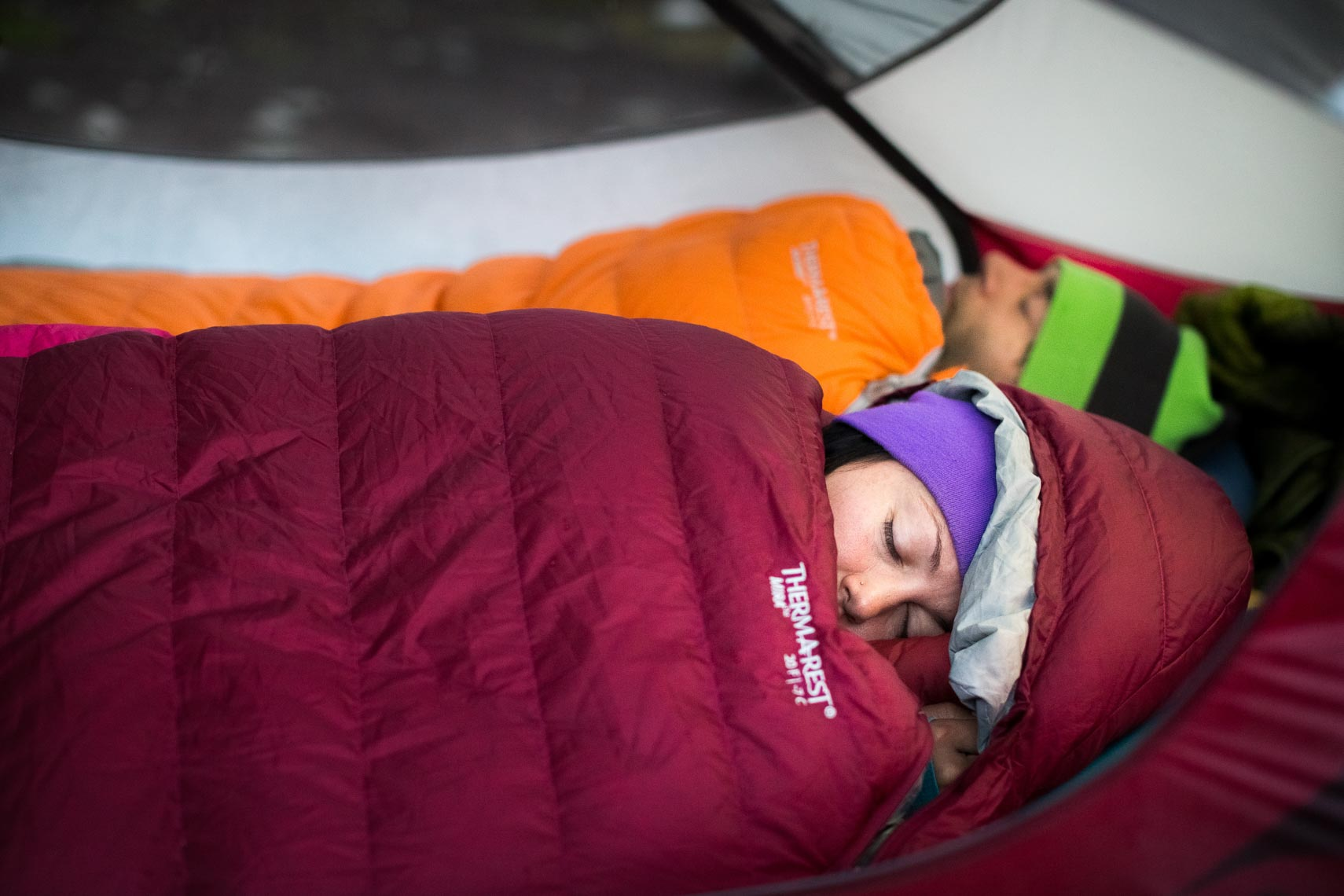 Thermarest sleeping back imagery by outdoor lifestyle photographer from Whistler