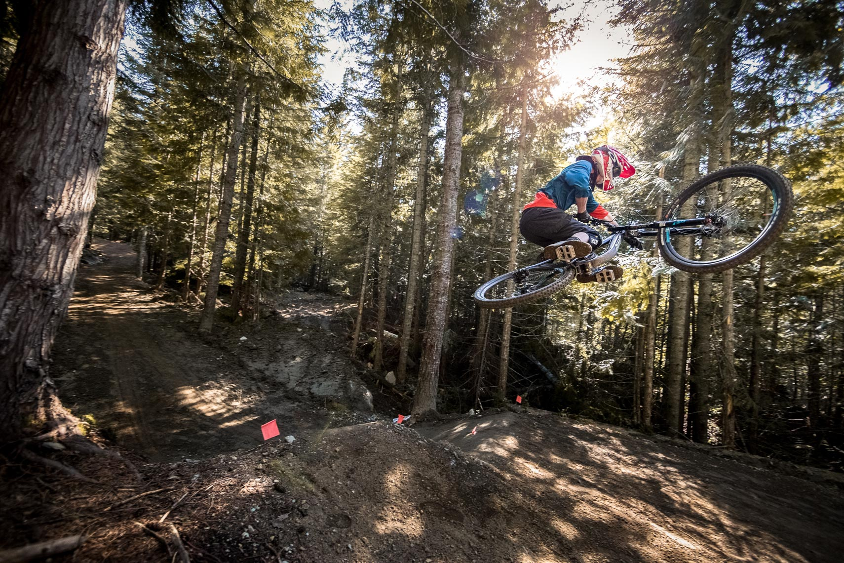 Mountain bike action photography from the Whistler bike park