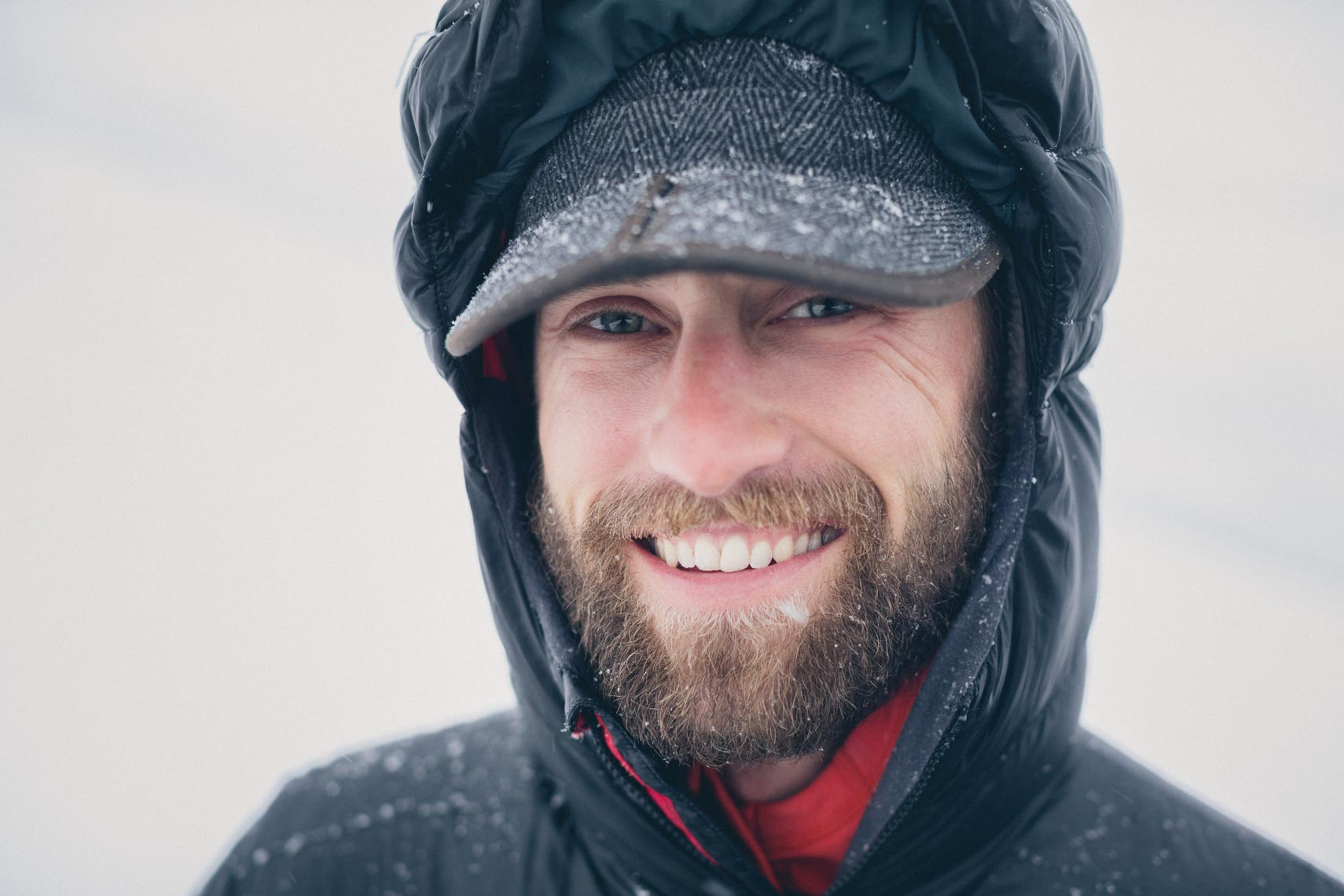 Portrait of skier in Alaska by Whistler ski photographer