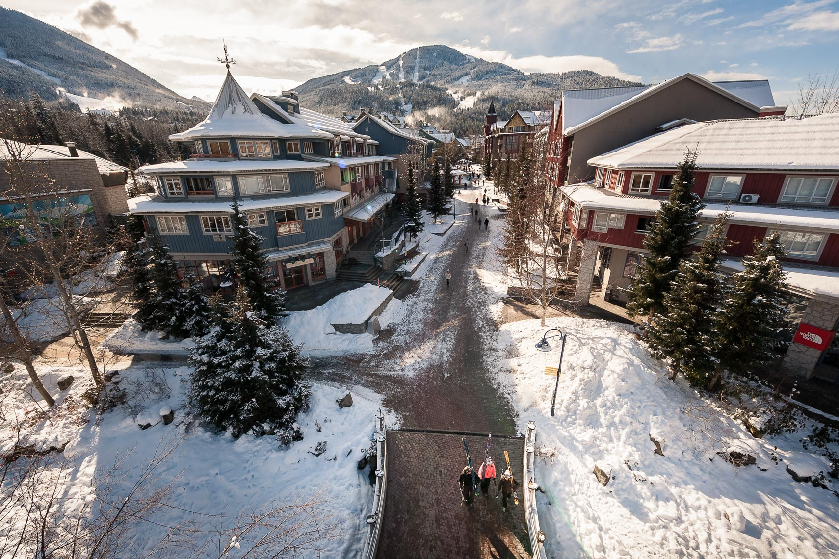 Whistler Village overview in the winter