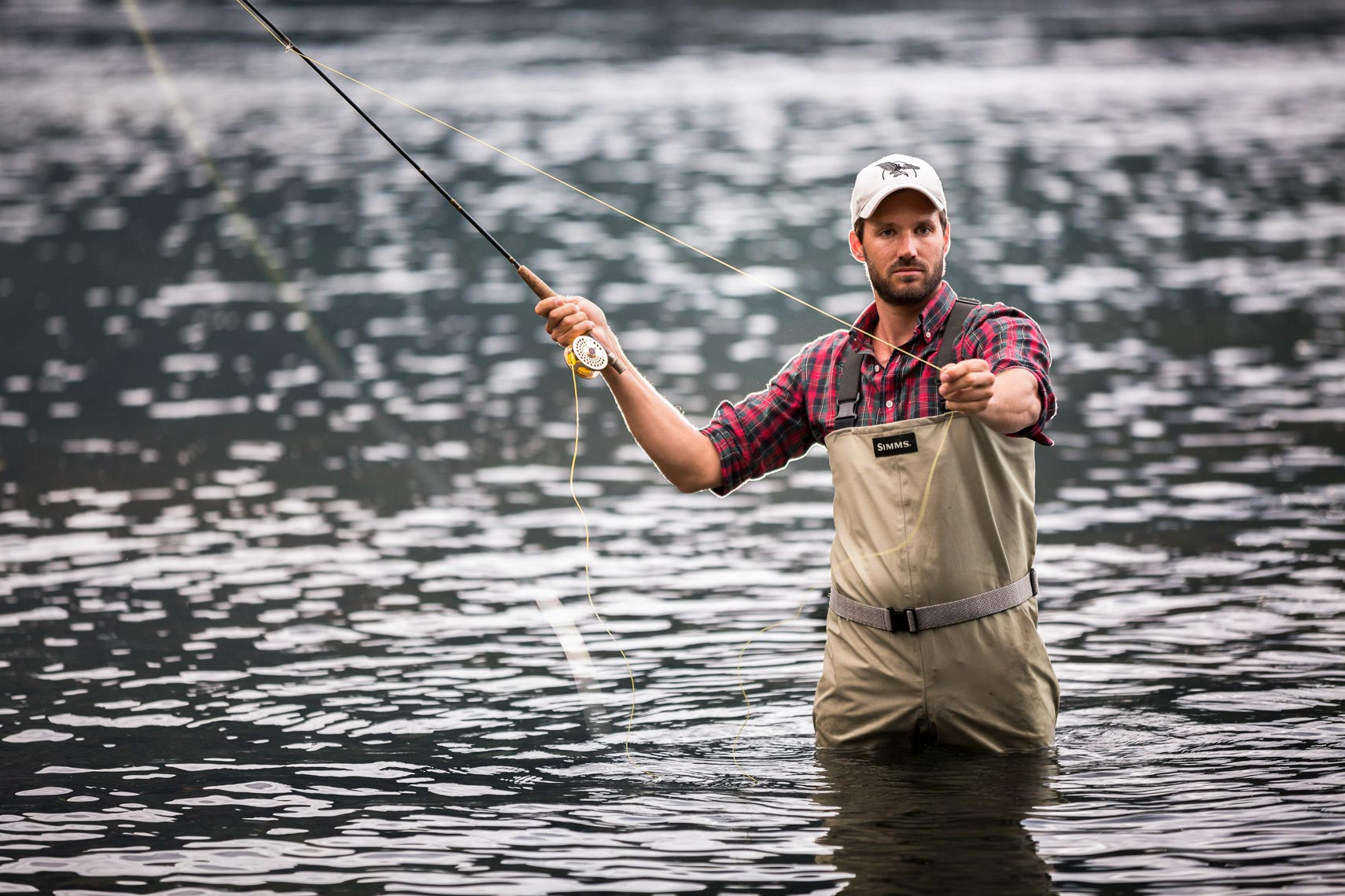 Fly fishing at Sonora Lodge, British Columbia