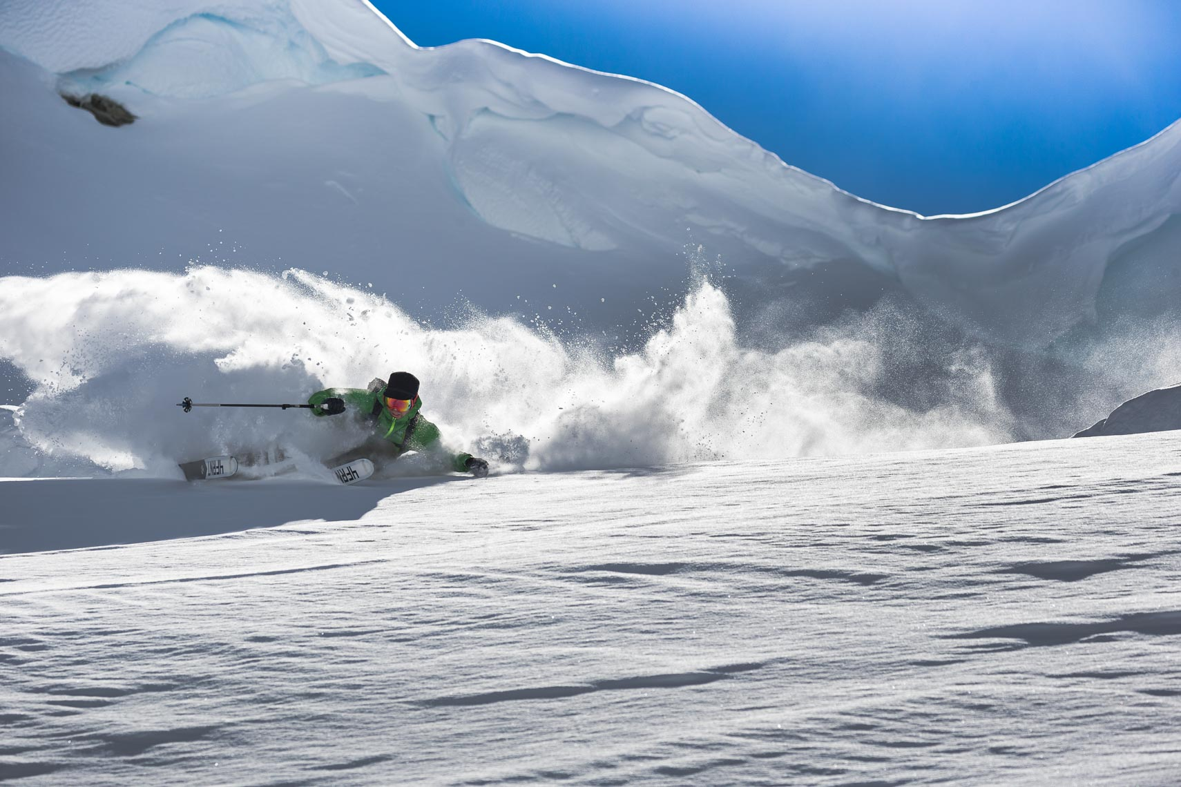 Eric Hoji Hjorleifson skiing in Whistler Canada shot by pro ski photographer
