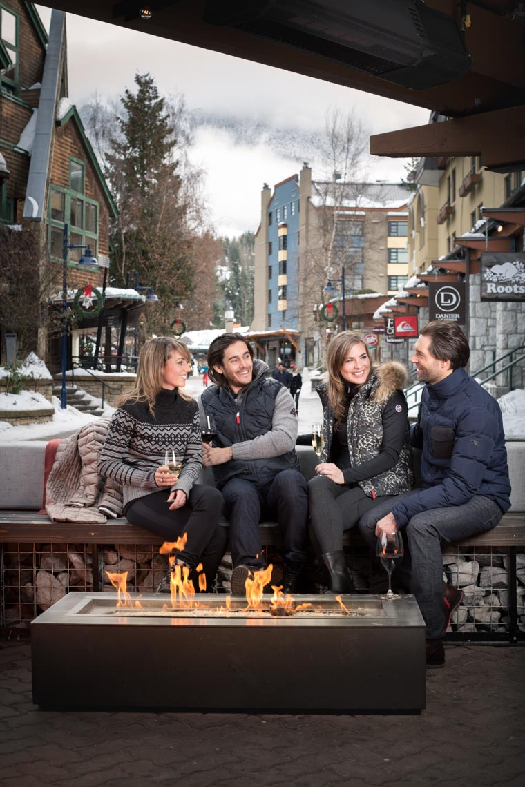 Whistler village tourism and hospitality photography