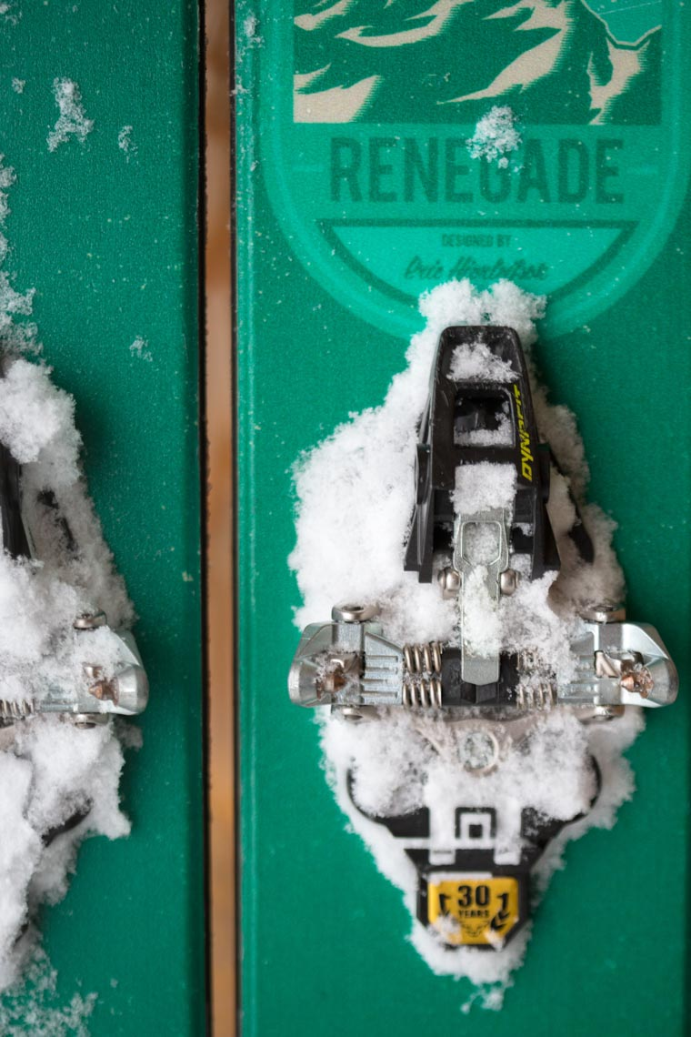 4frnt renegade ski binding closeup by commercial product photographer in Whistler