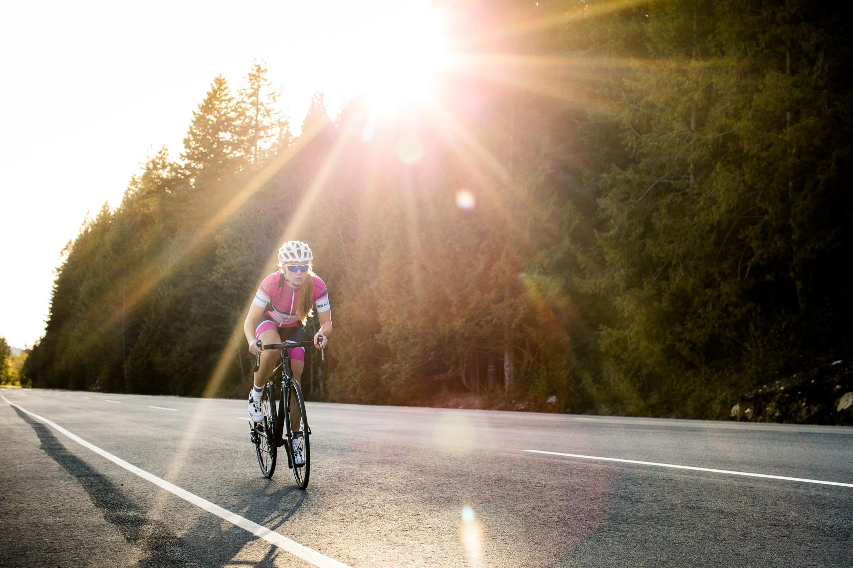 Vancouver road bike cyclists climbs Mount Seymour in North Vancouver