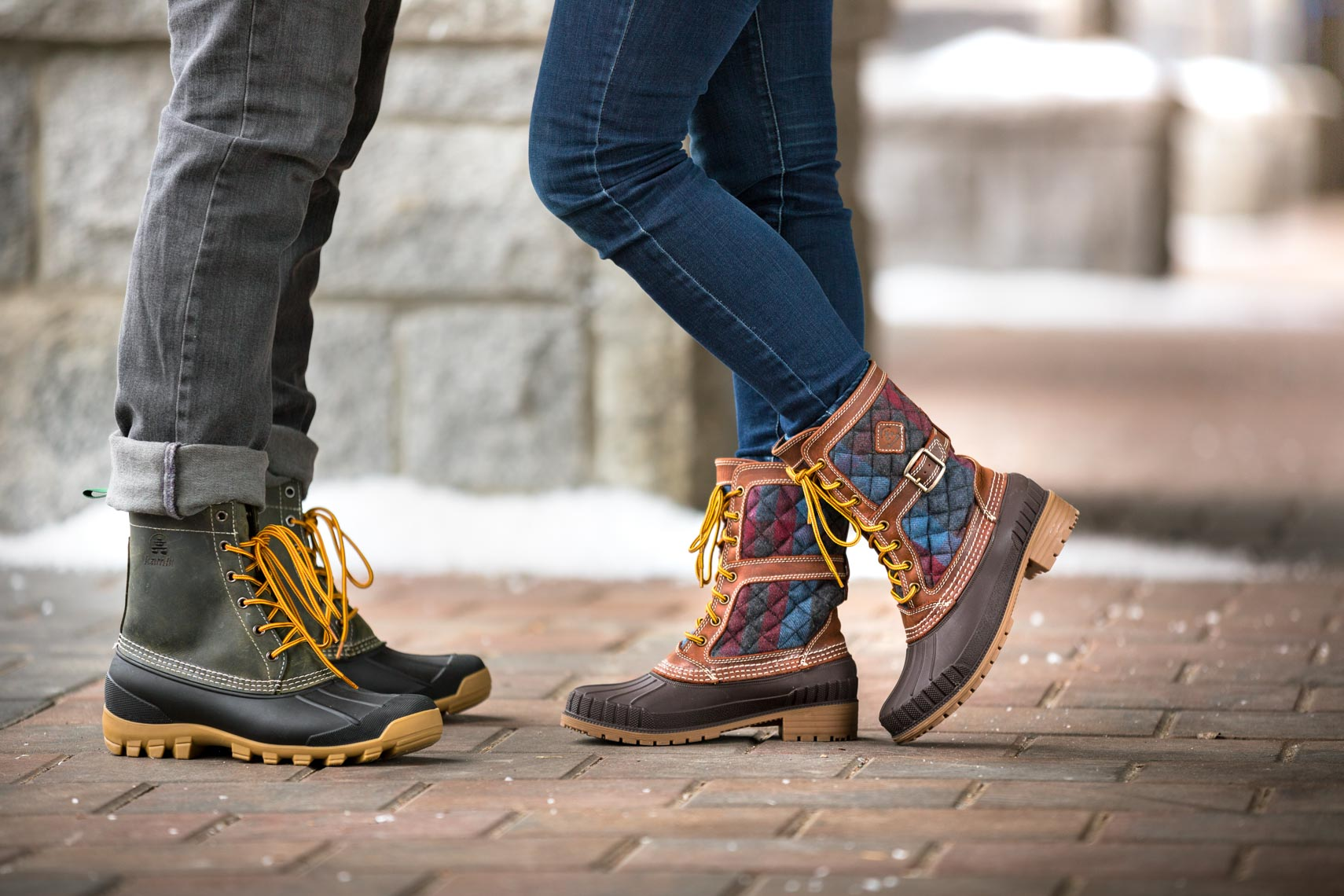 Kamik winter boots captured by outdoor apparel and product photographer in Whistler