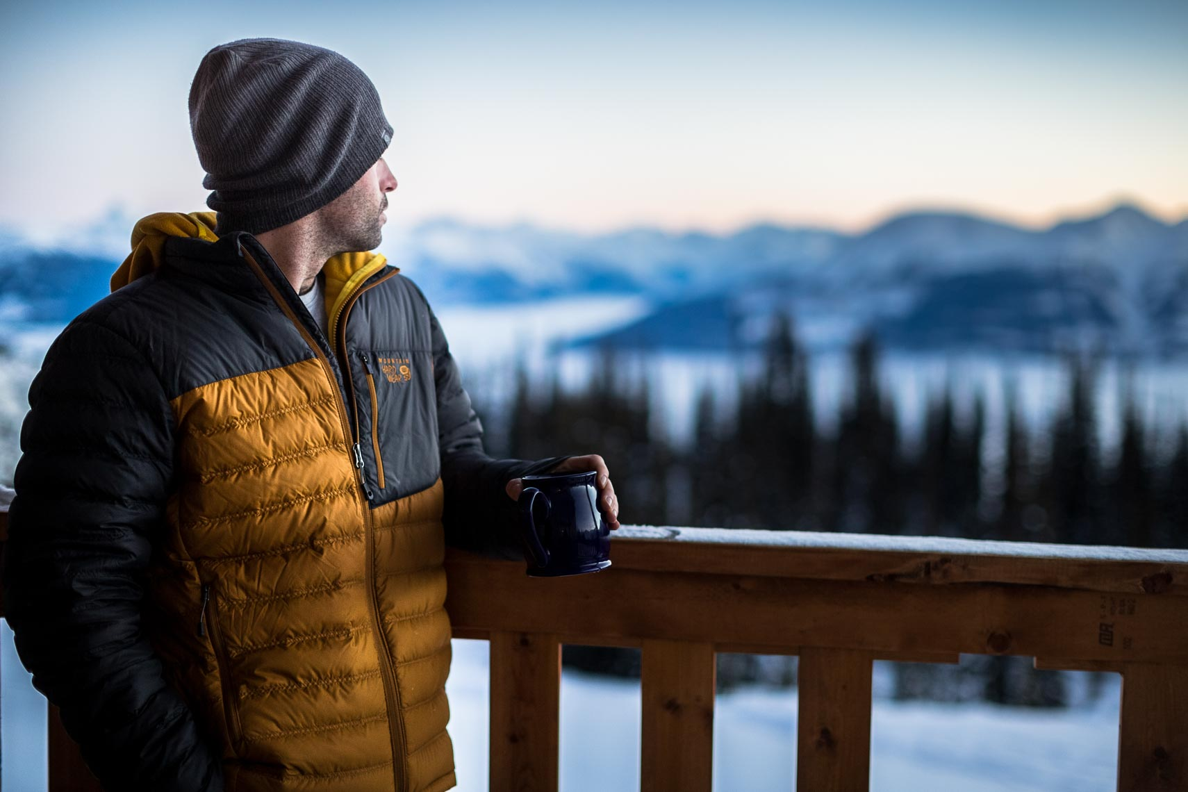 Mountain hardware winter jacket shown by apparel and product photographer in Canada