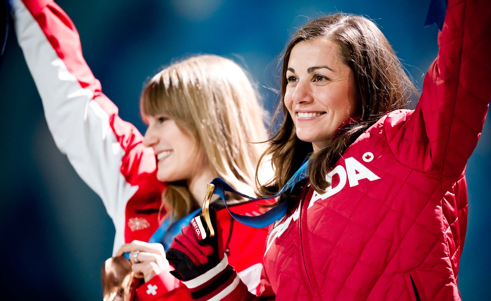 Maelle Ricker winning a gold medal at the 2010 winter olympics