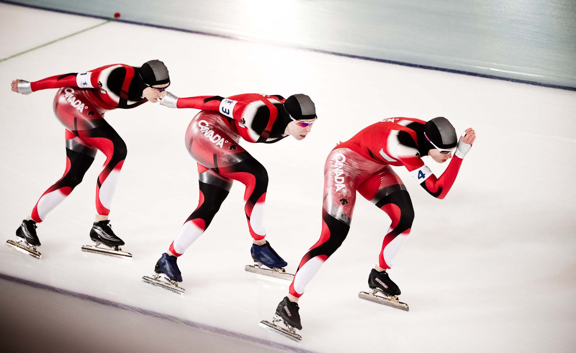 Speed skating team in vancouver during the 2010 winter olympics