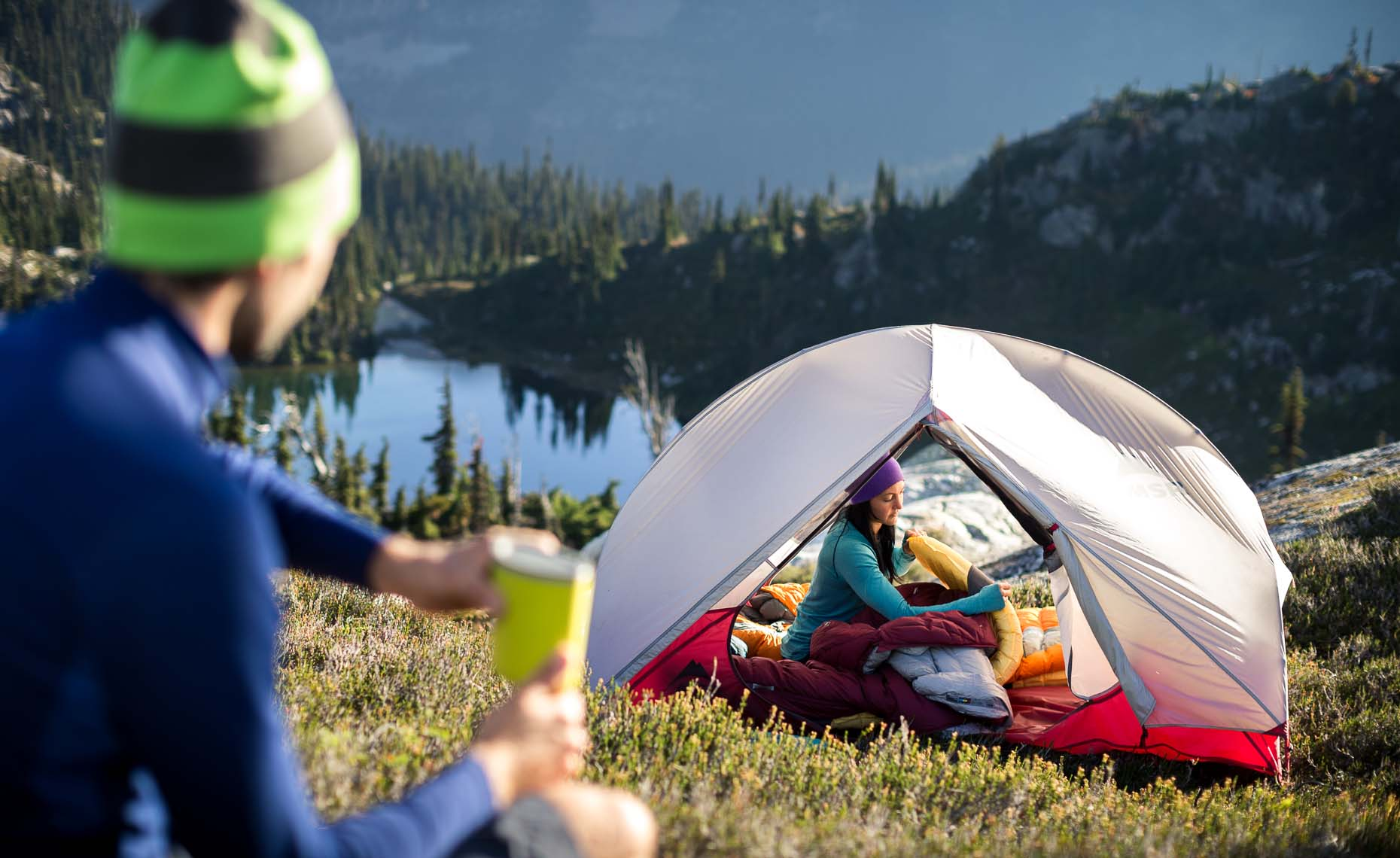 Outdoor lifestyle and camping photographer in scenic whistler bc