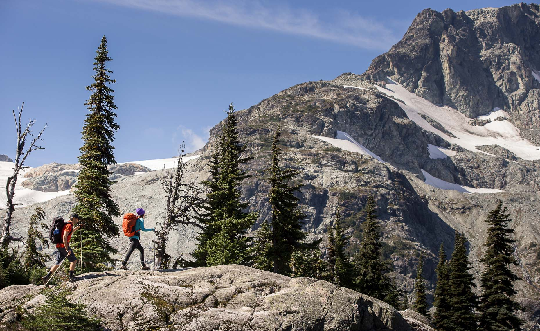 Hiking and camping in the british columbia wilderness photographer