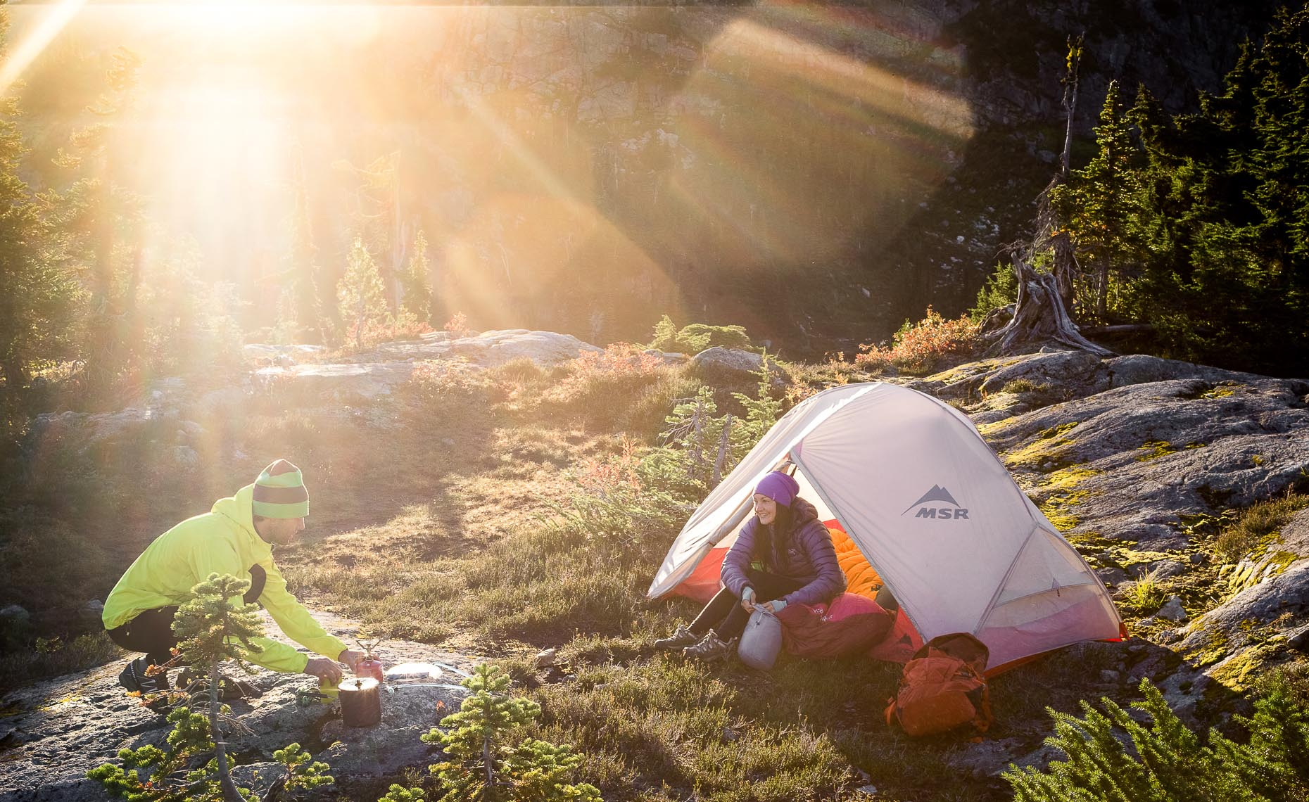 Mountain camping in whistler photographer