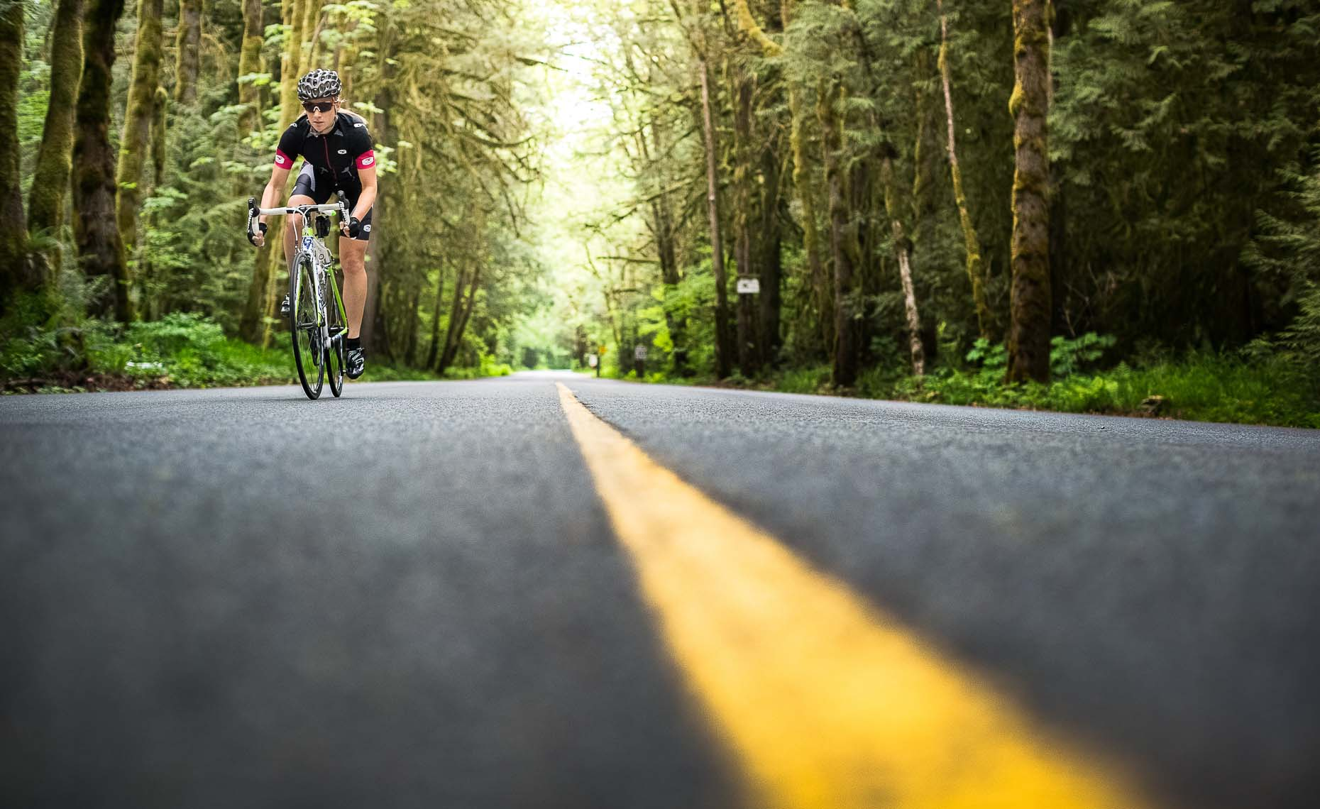 Road bike athlete in whistler BC.