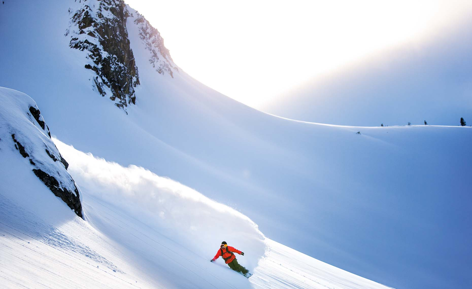 Canadian ski photographer from whistler shows snowboard action