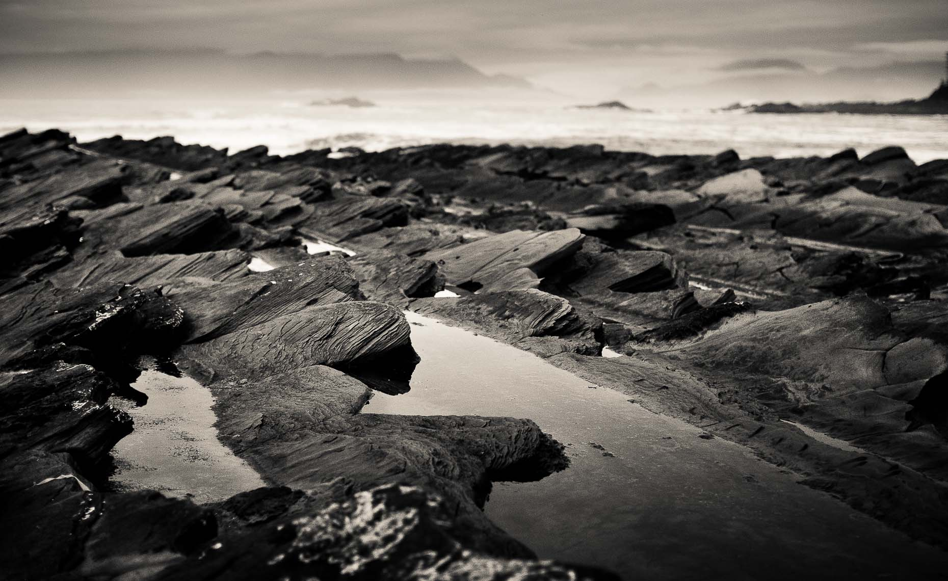 Vancouver island rocks and tide documented by whistler commercial photographer.