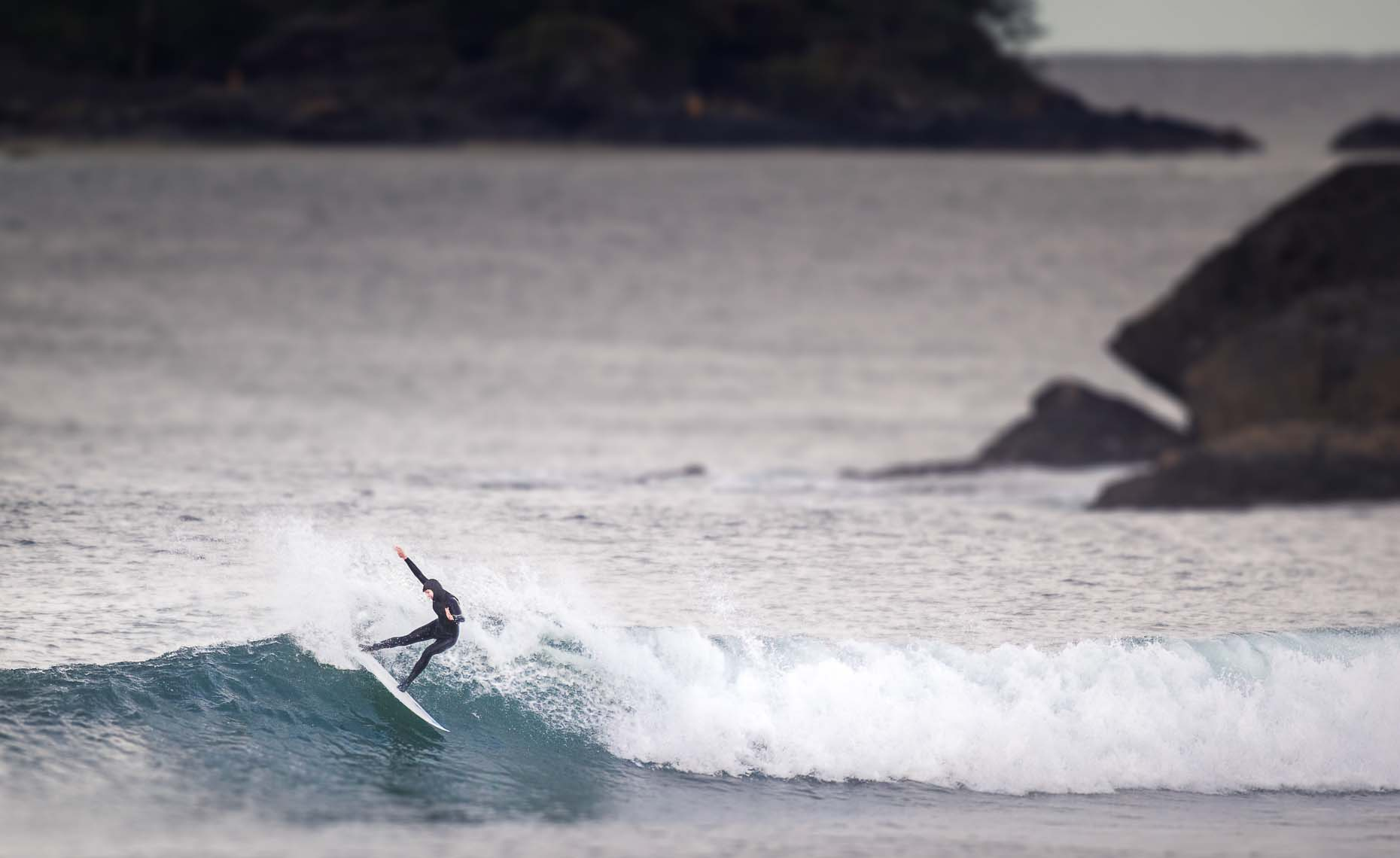 Womens surf action photography in tofino british columbia.