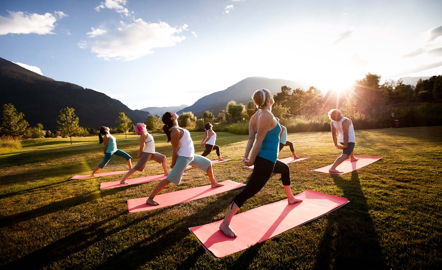 Yoga photographer shows practice in whistler.