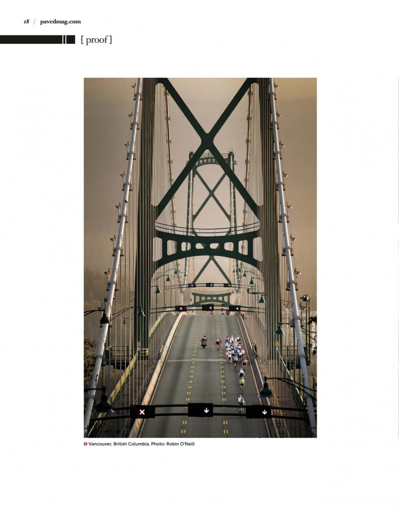 Paved magazine gran fondo lions gate bridge