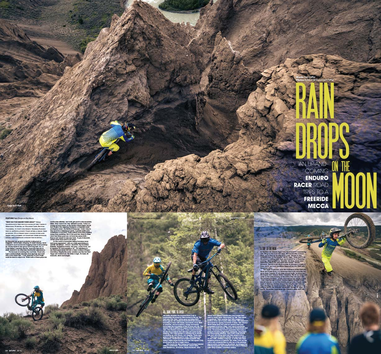 Bike magazine article, mountain bike photography by whistler photographer