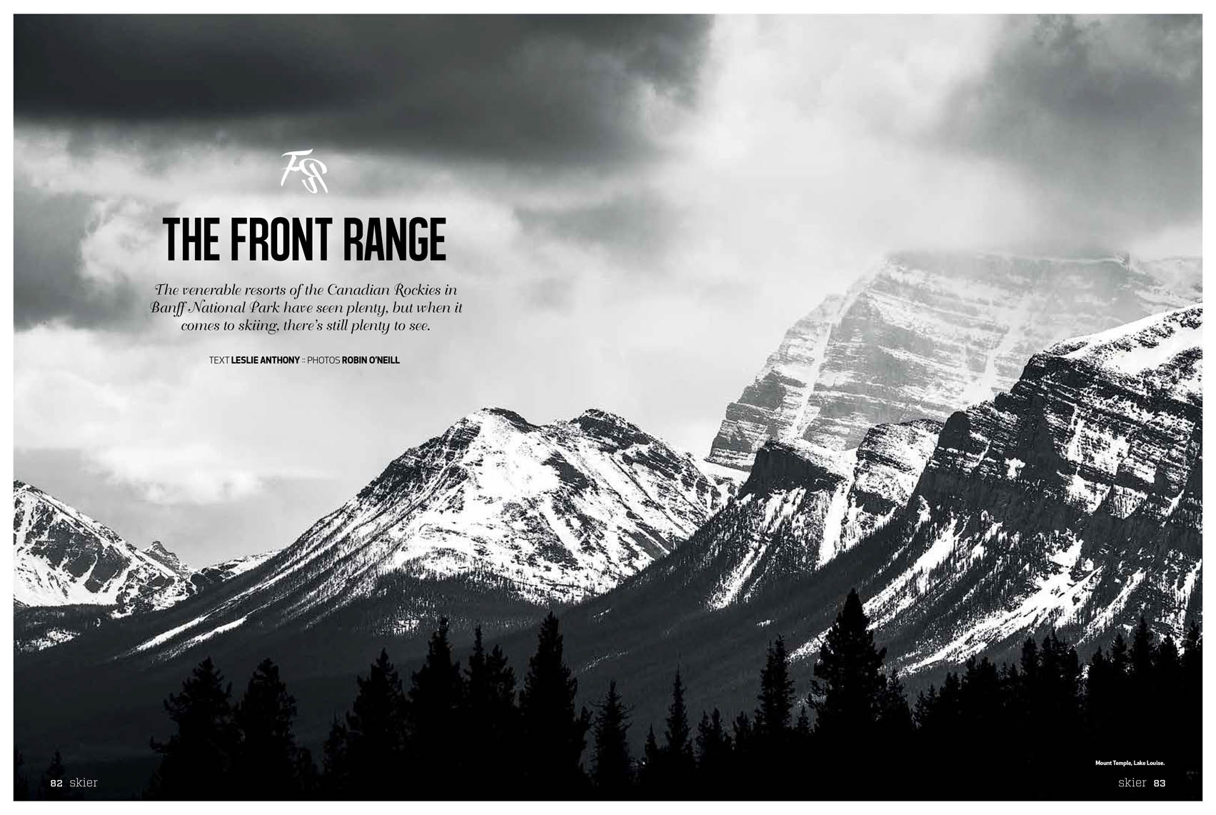 Skier magazine albert banff mountains