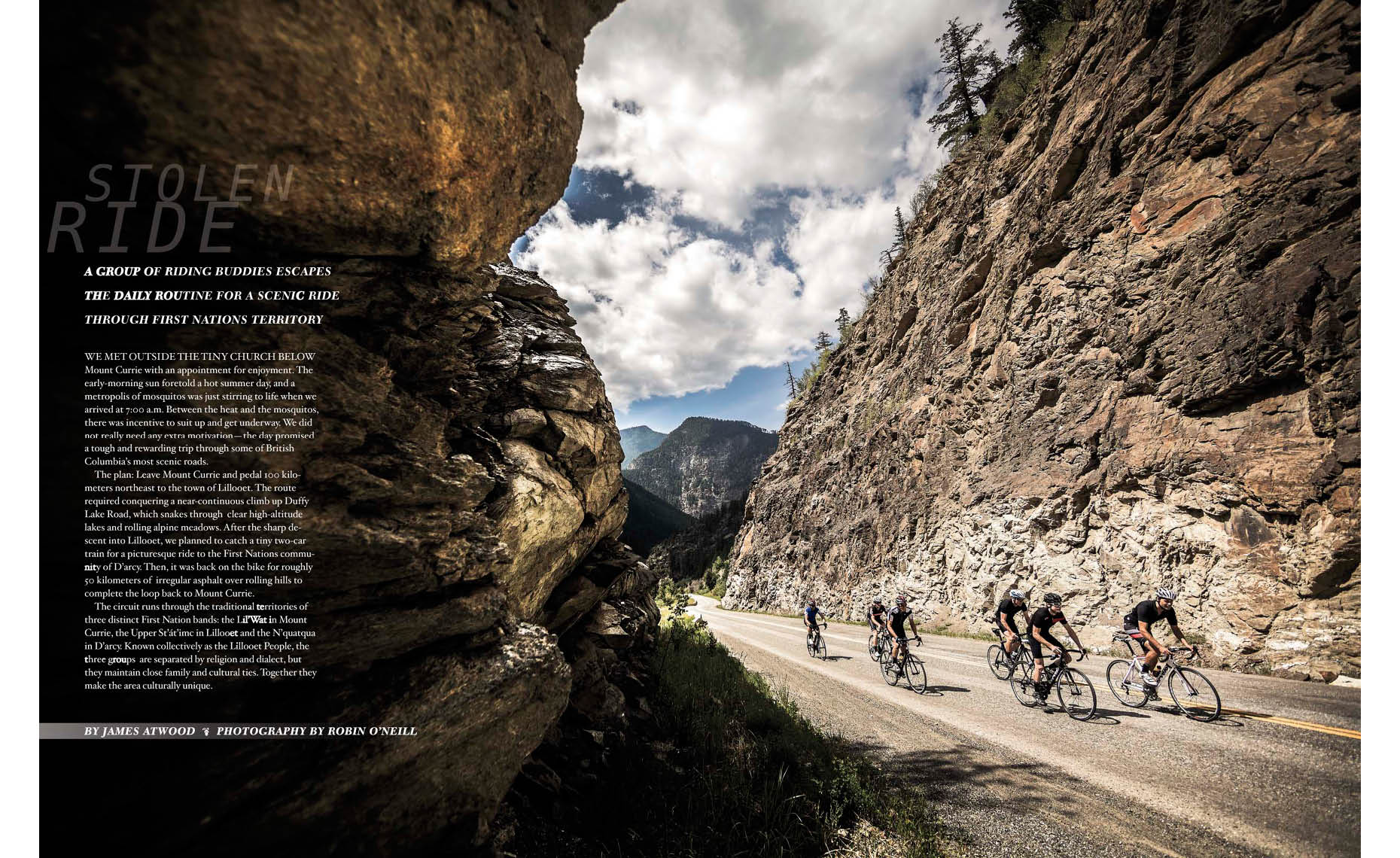 Road bike photography article from near Whistler, Canada
