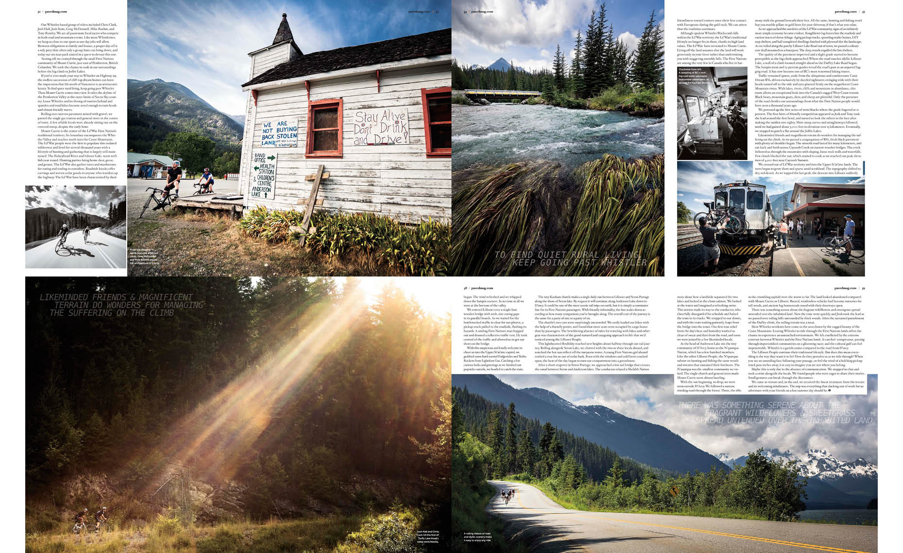 Whistler road bike photographer feature article
