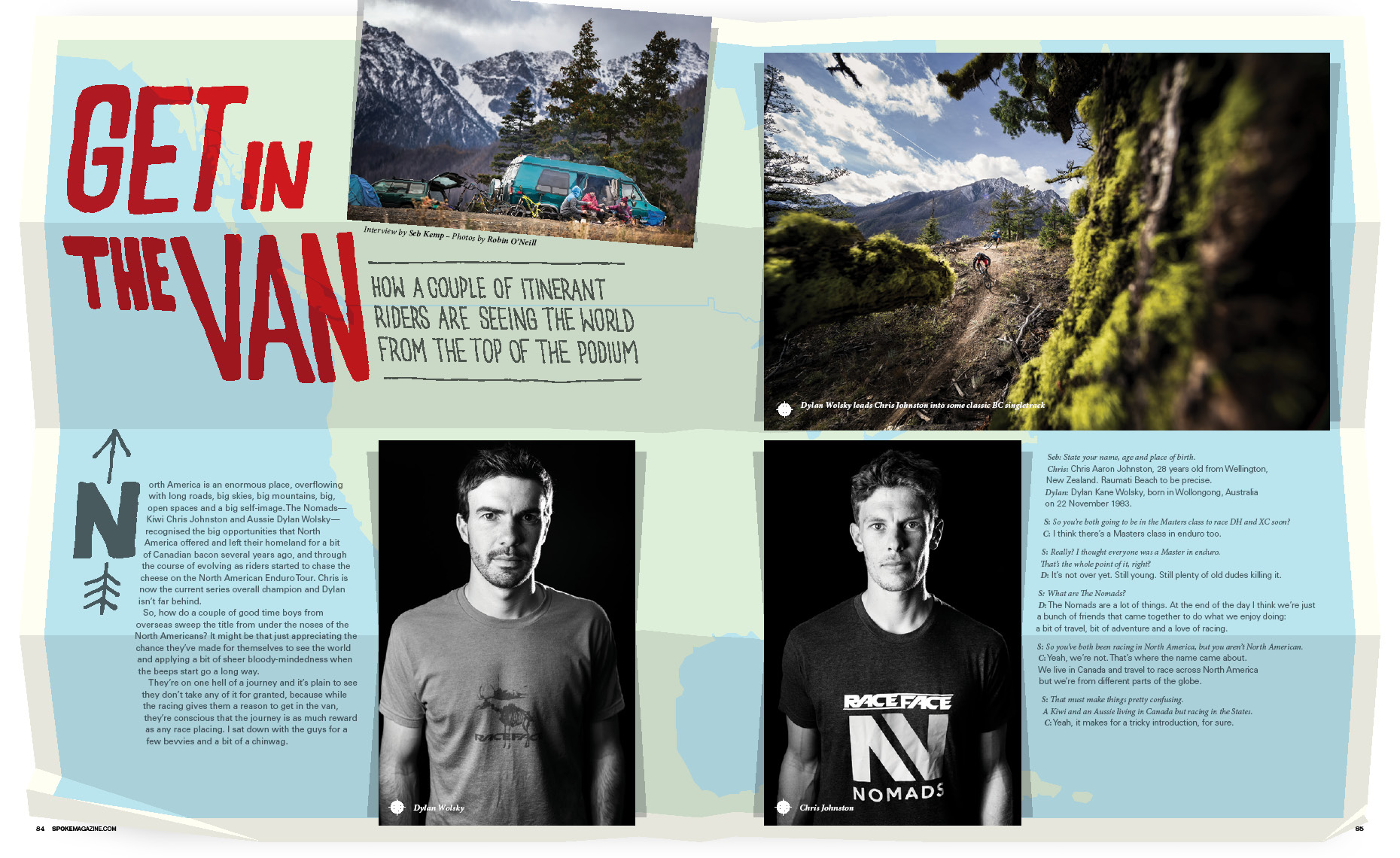 Feature article on dylan and chris nomads mountain bike trip