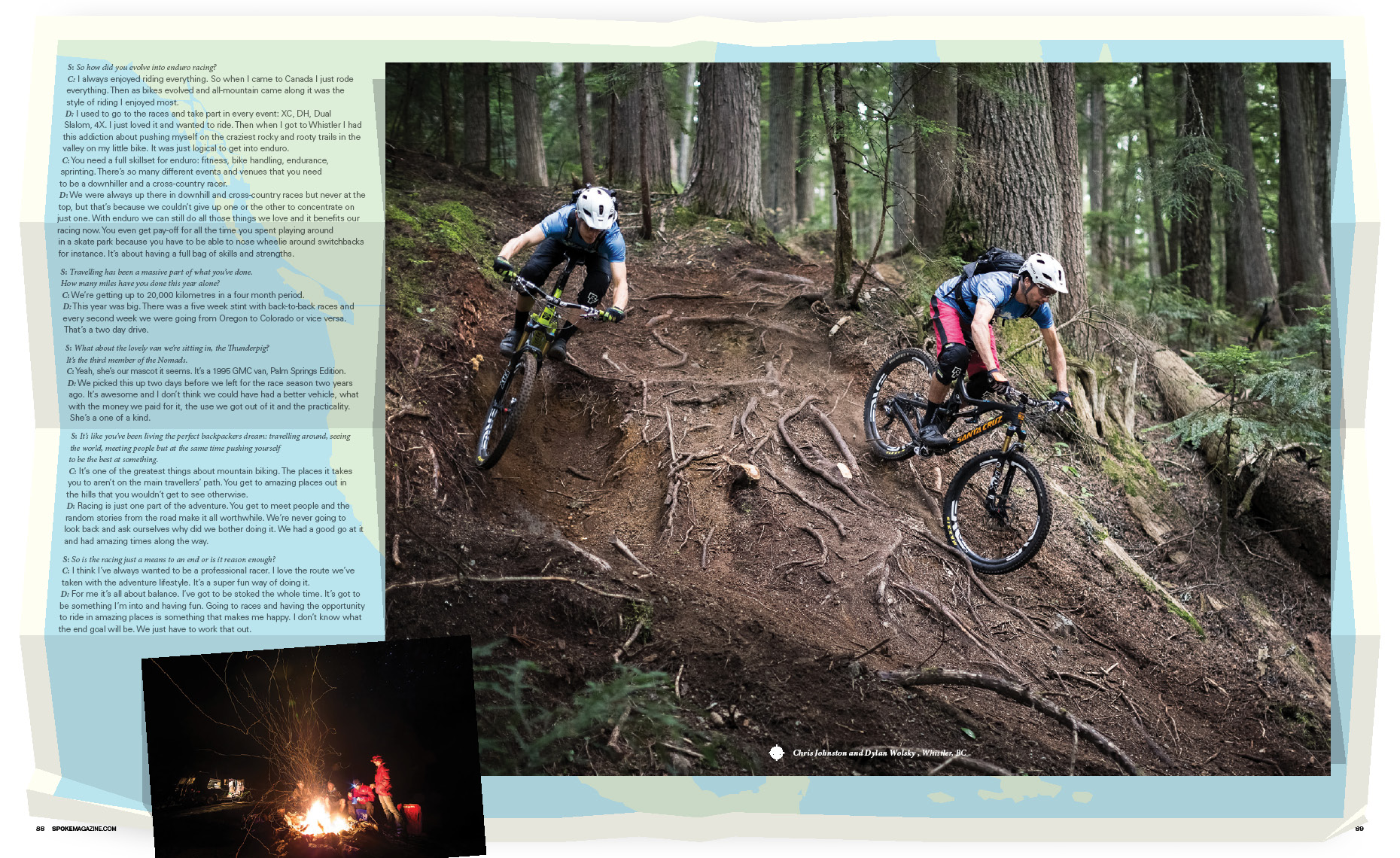 Nomads mountain bike feature magazine article