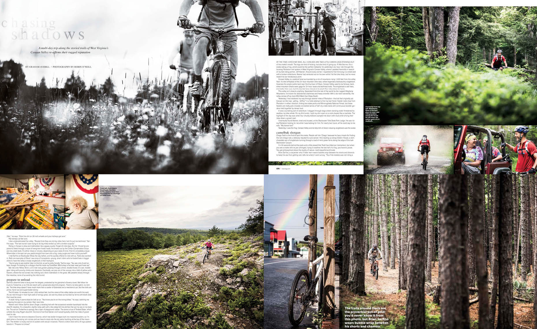 Bike magazine feature article story by whistler photographer
