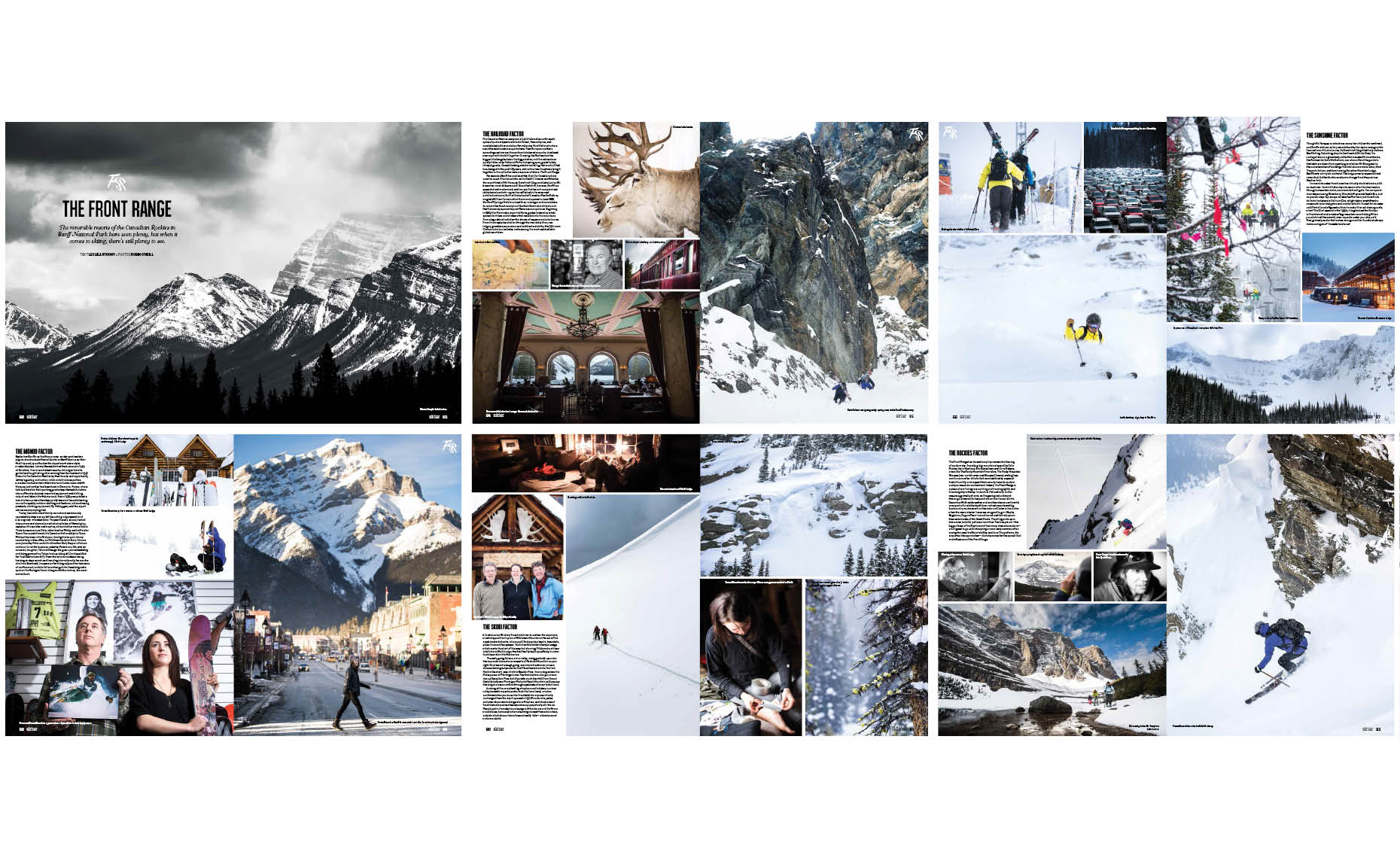 Feature story in front range mountains by ski photographer