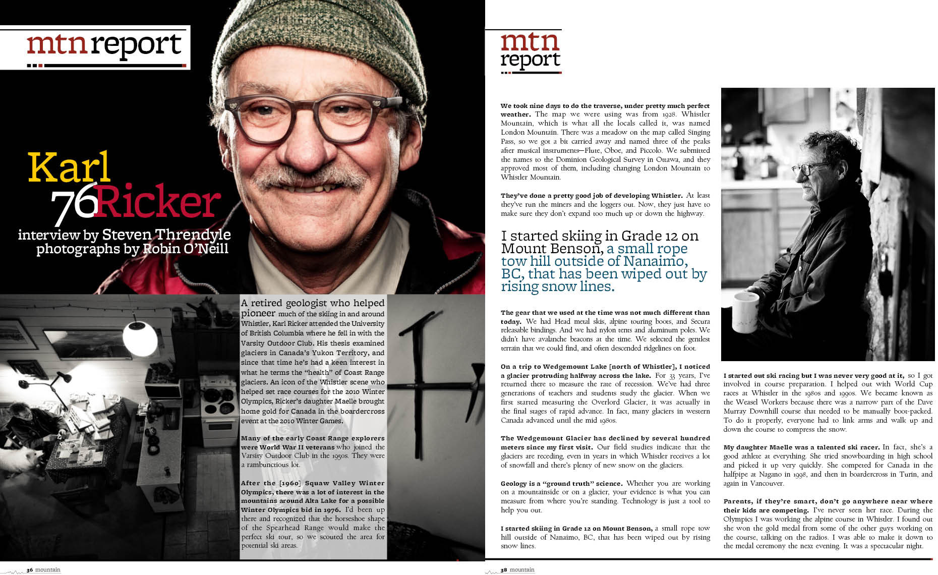 Karl Ricker feature article in magazine