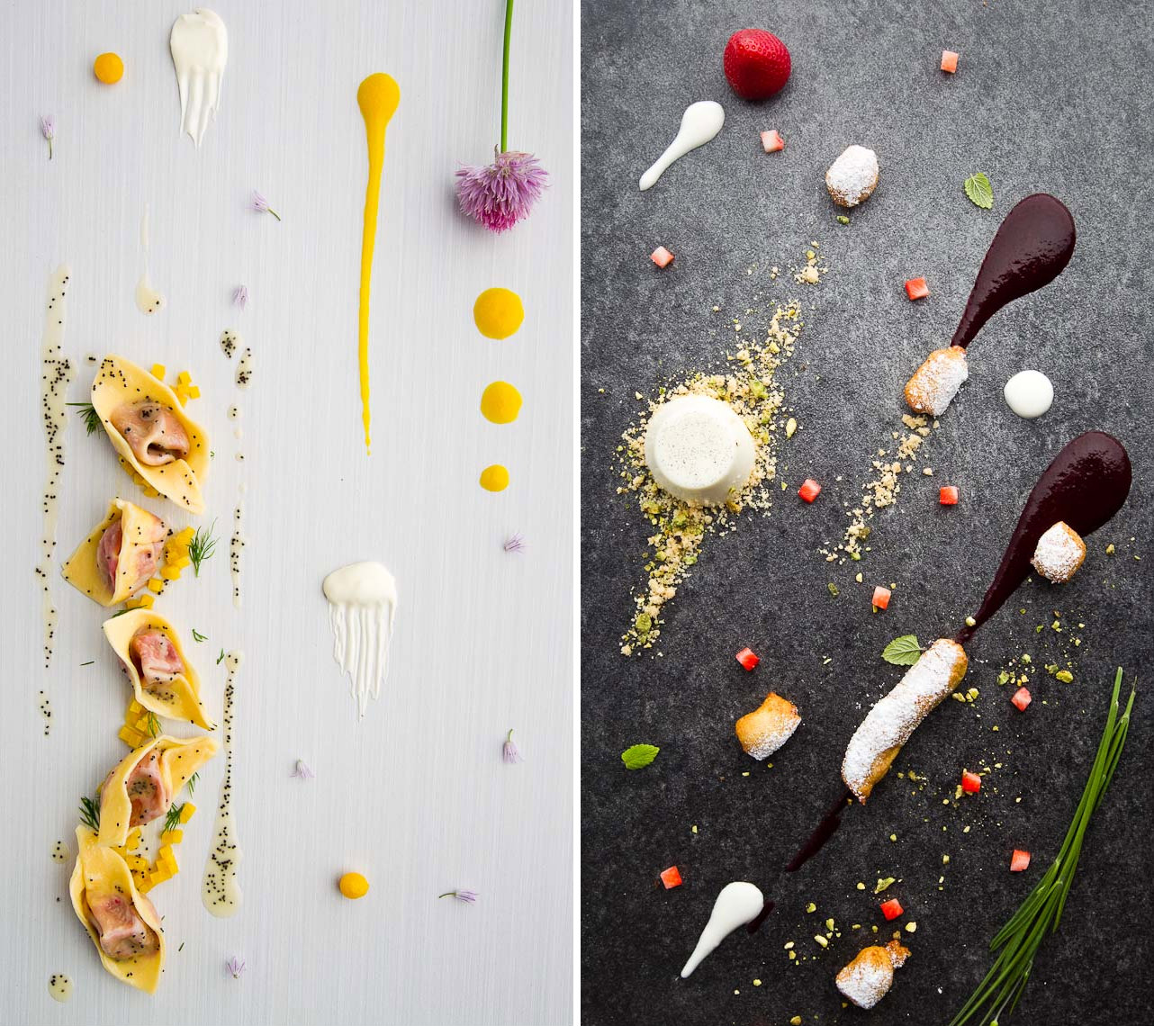 Food photographer in whistler shows ingredients.
